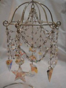 Make a mini chandelier for Barbies