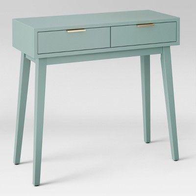 Hafley Two Drawer Console Table Smoke Green Project 62 Console Table Home Improvement Projects Console