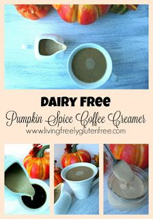 Creamy and delicious dairy free pumpkin spice coffee creamer to give you your…