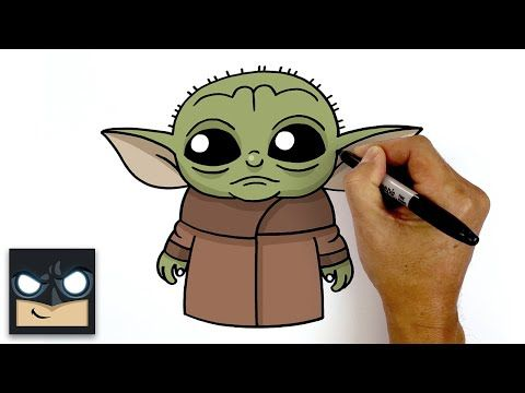 How To Draw Baby Yoda The Mandalorian Youtube Yoda Drawing Baby Drawing Yoda Canvas