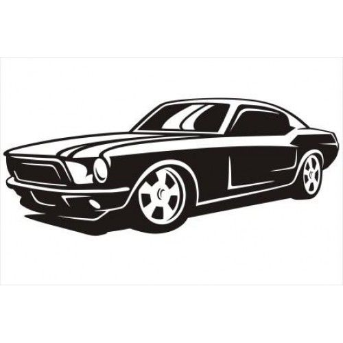 Imgs For > Ford Mustang Car Silhouette | silhouette ...