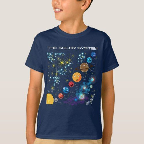 "SOLAR SYSTEM /""YOU ARE HERE/"" CHILD T-SHIRT THE MOUNTAIN"