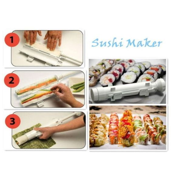 Sushi Rocket Launcher Shape Home Kitchen Cooking Tube Easy Food Maker Mould  Hot