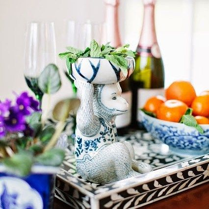 Guess who's back?! Our porcelain monkey dish has arrived and makes the perfect bar accessory!