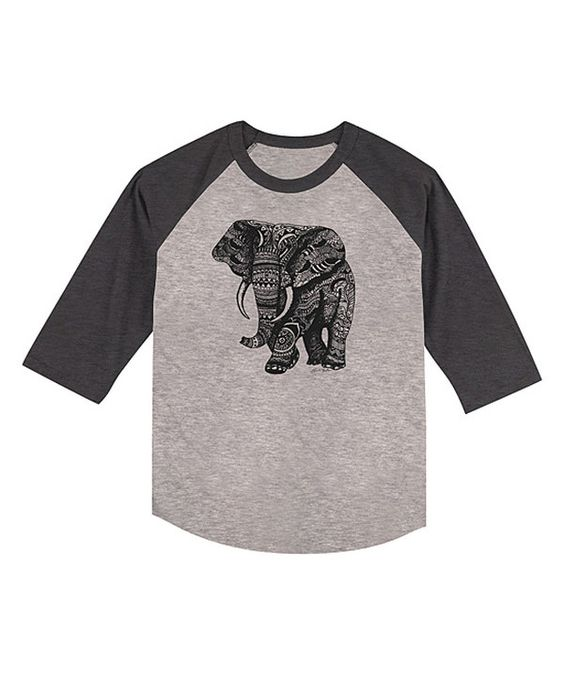 Look at this Heather Smoke Elephant Raglan Tee - Toddler & Kids on #zulily today!