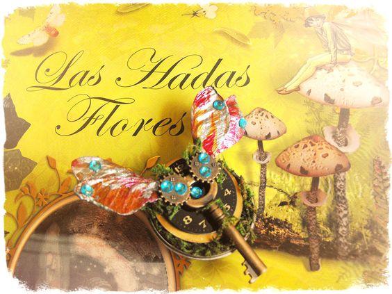 Greenpunk Steampunk brooch Key brooch skeleton key brooch Vintage brooch steampunk jewelry steampunk pin fairy wings maple seed brooch moss de FamDdaear en Etsy