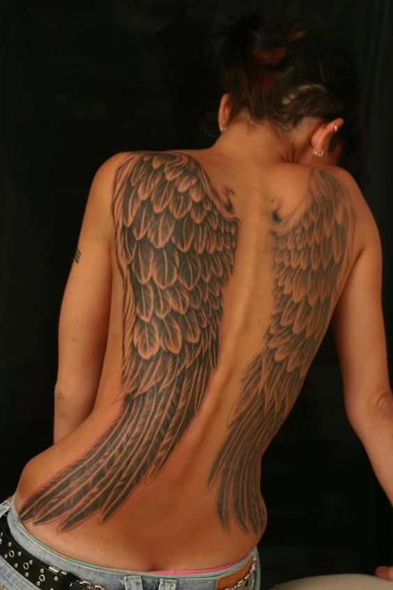 angel wings have always been my secret inspiration during high school 4 a tat...bt since I went thru a metamorphosis in Christ Jesus - I'll post my original design both angel/butterfly design with cross or Ark symbol in the middle...