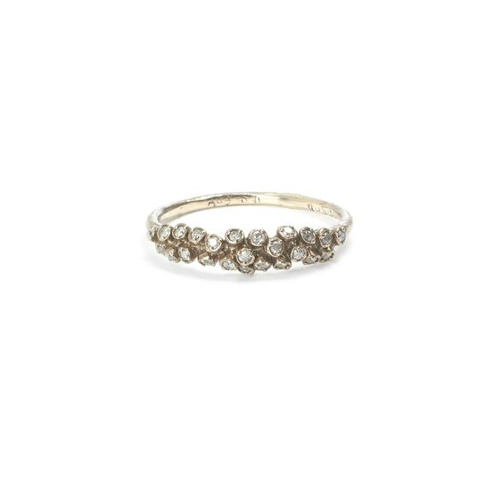 WHITEbIRD | Bague diamants - Naohiko Noguchi white gold diamond ring @ WHITE bIRD Jewellery.