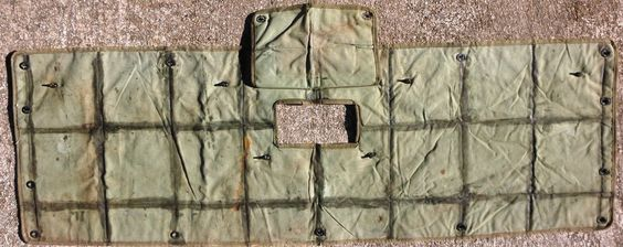 * Military Vehicle - end cover front? Rear? Canvas - not Vinyl - Used