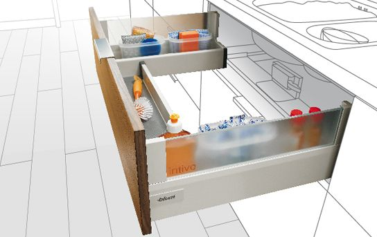Blum custom pullout for under the kitchen sink