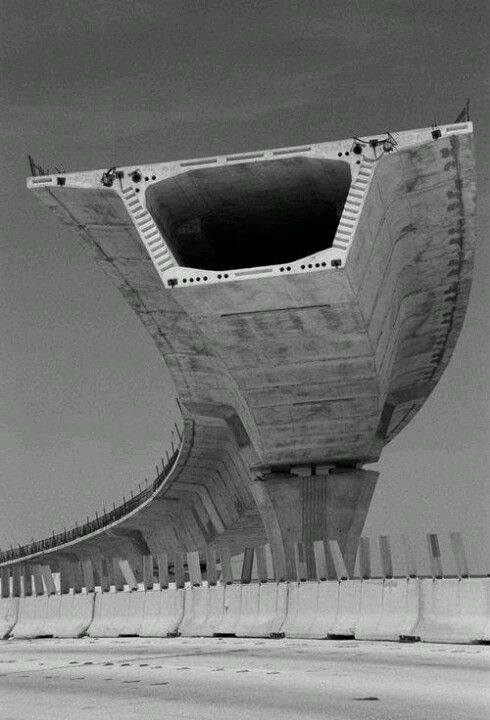 Cantilevered section of highway. #pushyourboundaries. We love all things concrete at delzottoproducts.com !