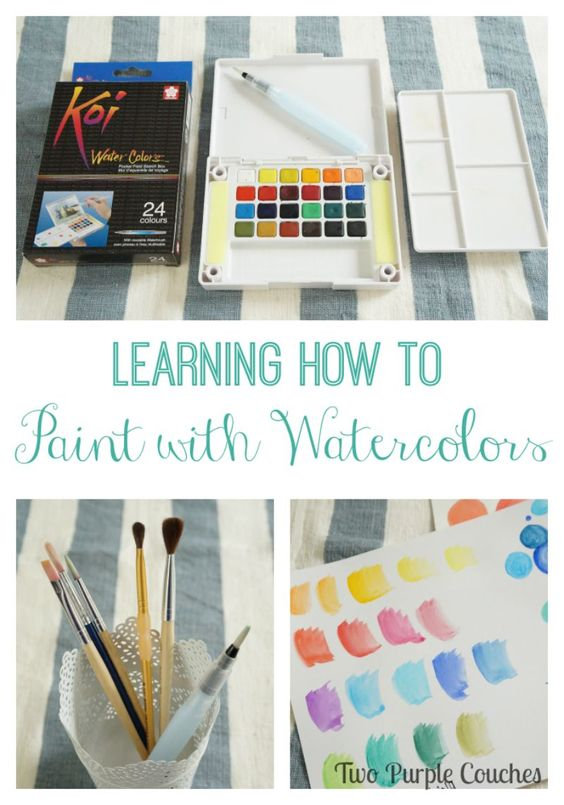 I've always wanted to try this!! Learning How To Watercolor via www.twopurplecouches.com