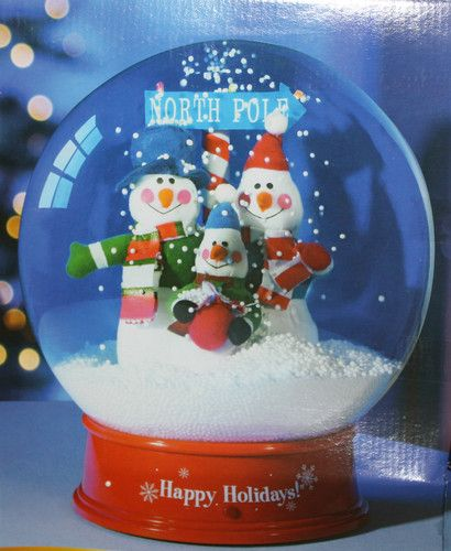 Inflatable Gemmy Christmas Musical Snow Globe Table Top