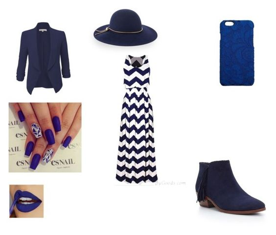 """""""Go Dark Blue"""" by chairityj ❤ liked on Polyvore featuring LE3NO, Dolce&Gabbana, Lanvin and Sam Edelman"""