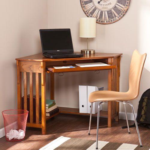 Oak Corner Computer Desk Southern Enterprises Desks Computer Desks Home Office Furniture
