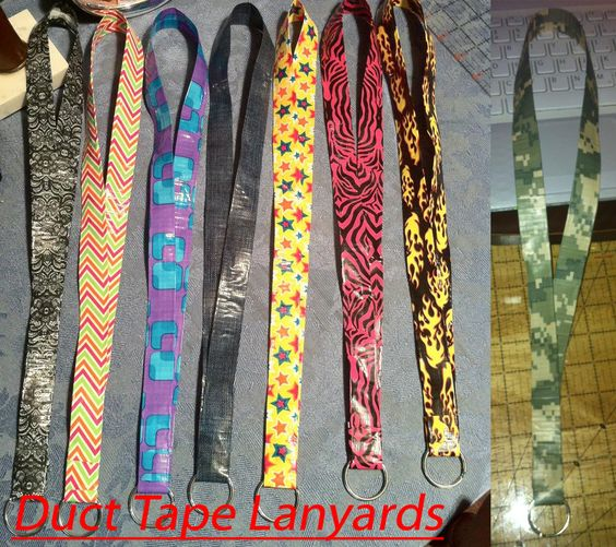 Simple duct tape crafts duct tape lanyards by for Super easy duct tape crafts