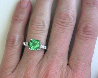 3.14 ctw Tsavorite and Diamond Ring from MyJewelrySource (GR-8033)