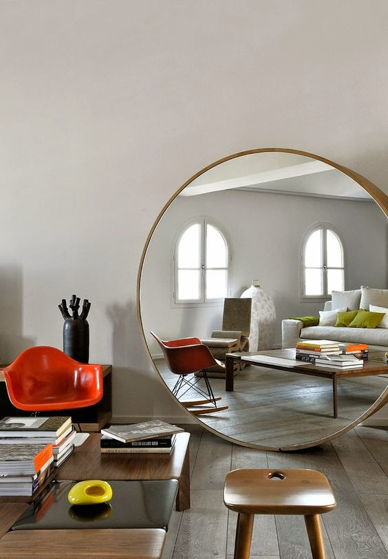 Round mirror home pinterest rocking chair eames for Miroir ikea rond