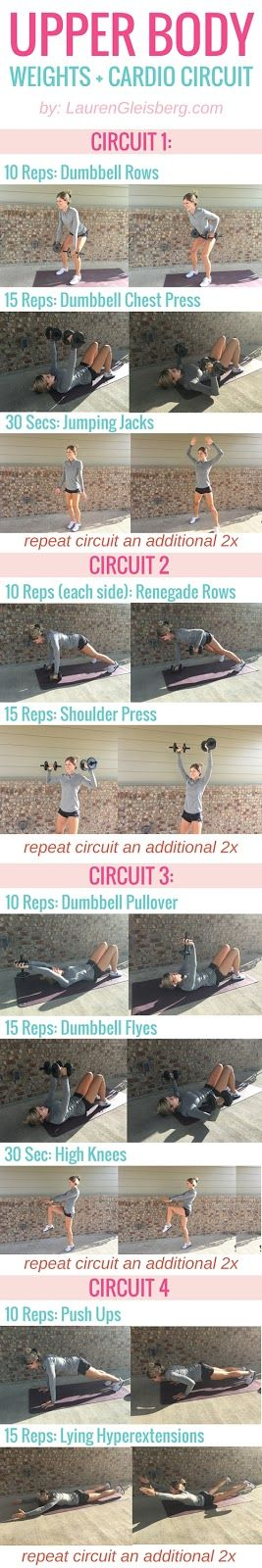 UPPER BODY WEIGHT TRAINING & CARDIO CIRCULE | click for full workout programs