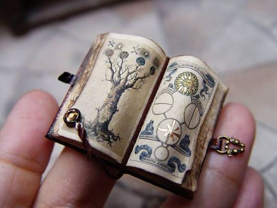 antique tiny book: