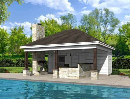 Willow Pool House Coastal House Plans From Coastal Home Plans Pool Houses Small Pool Houses Pool House Designs