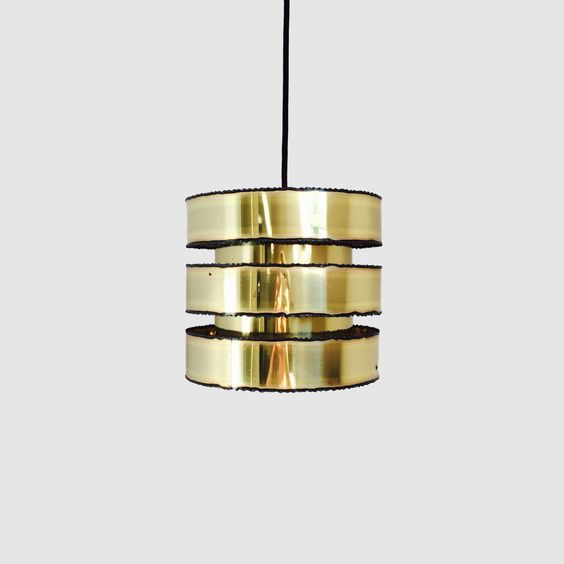 Holm Sørensen - Danish Designed Brass Pendant From 1960s - Handmade Danish…