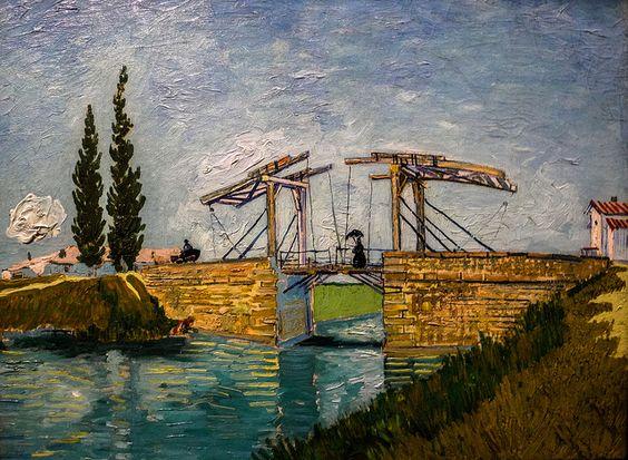 Vincent van Gogh - Drawbridge at Arles, 1888