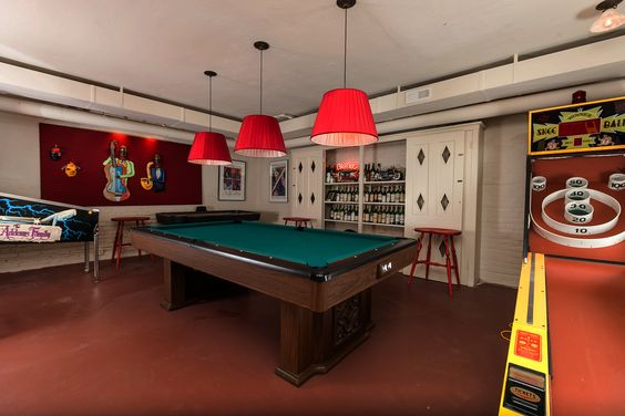 Game room from same Baltimore home.