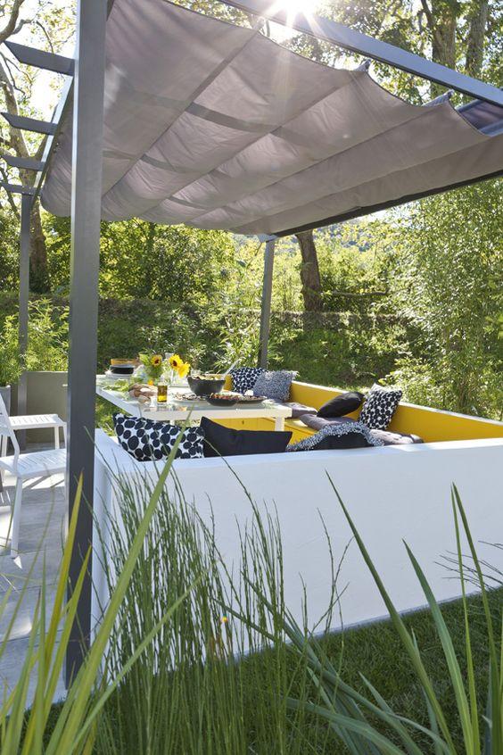 Sous la pergola jardin pinterest t nature et ps for Lumiere terrasse exterieure