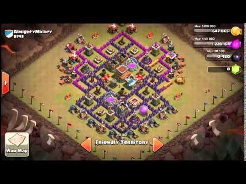 clash of clans bases with town hall 7