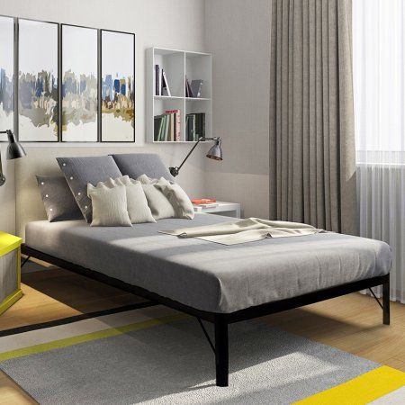 Bedroom Simple Black Tall Bed Frame Queen For Bedroom From Tall