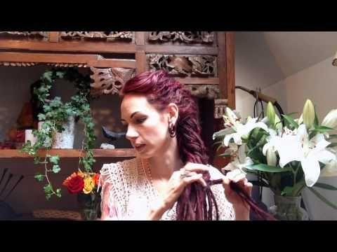 How to make a fish bone braid bun updo / dreadlock tutorial