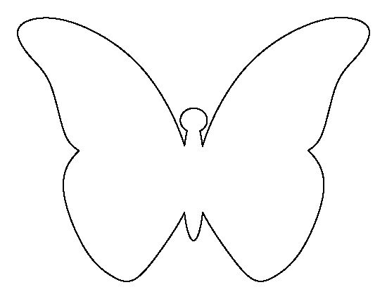 Flying butterfly pattern. Use the printable outline for crafts ...