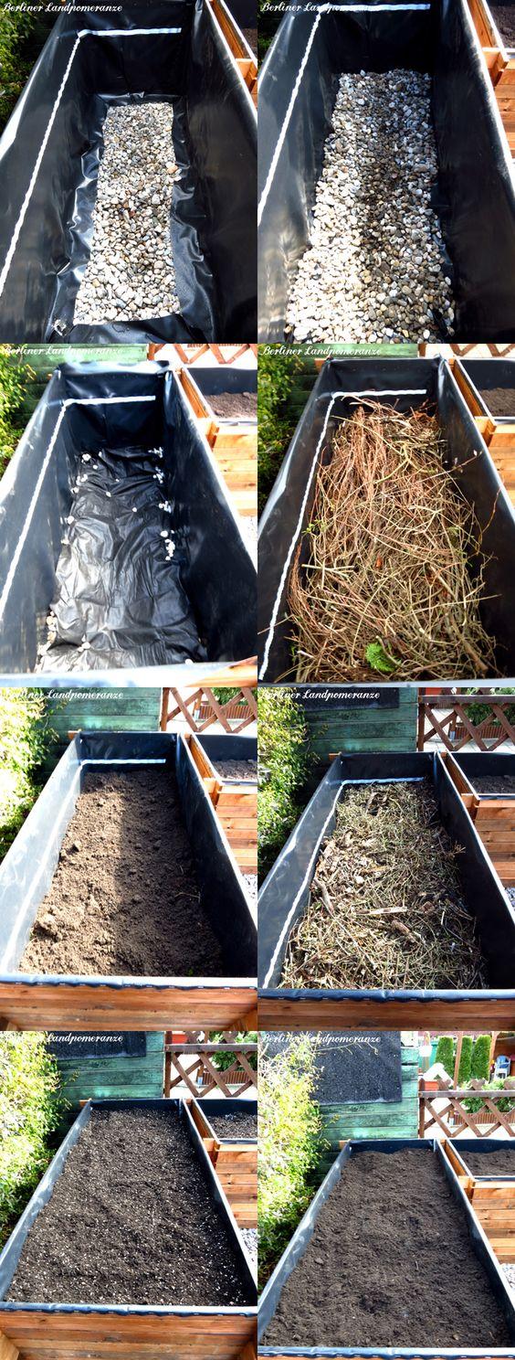 hochbeet richtig bef llen filling a raised bed garden. Black Bedroom Furniture Sets. Home Design Ideas