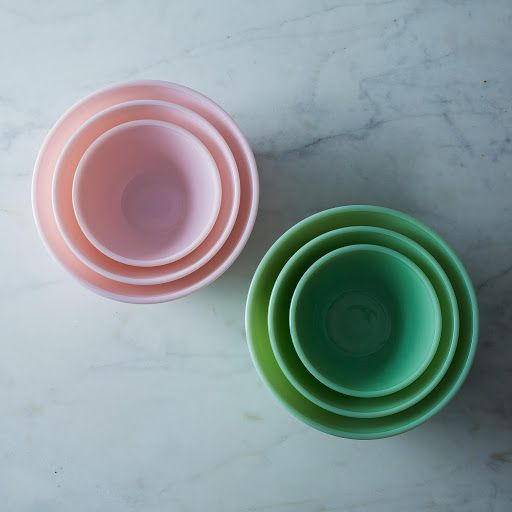 Mosser Glass 3-Piece Mixing Bowl Set on Provisions by Food52 Love these, remind me of baking with mom!