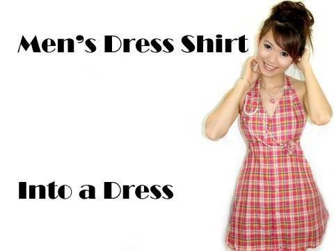 How to Turn Your Boyfriend's Shirt into a Dress