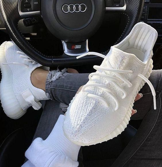 2019 Black Kanye West With Box New Antlia Static Reflective Clay Running Shoes Classic Cream White Men In 2020 White Tennis Shoes Yeezy Sneakers Running Shoes Sneakers
