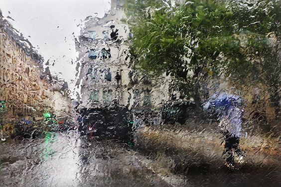 Cities In The Rain by Christophe Jacrot Paris