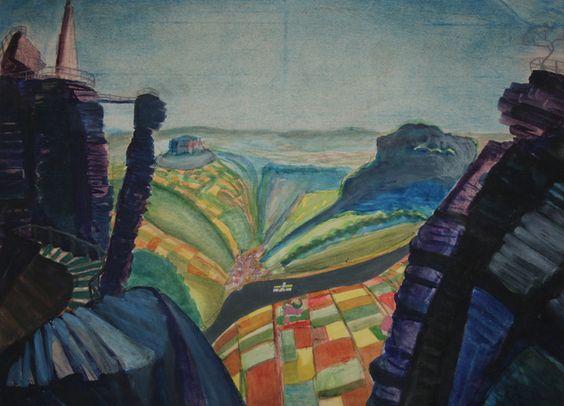 Kurt Günther-Lilienstein, 1919 Tempera, 48 x 63,1 cm