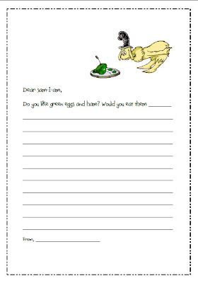 Dr. Seuss letter writing