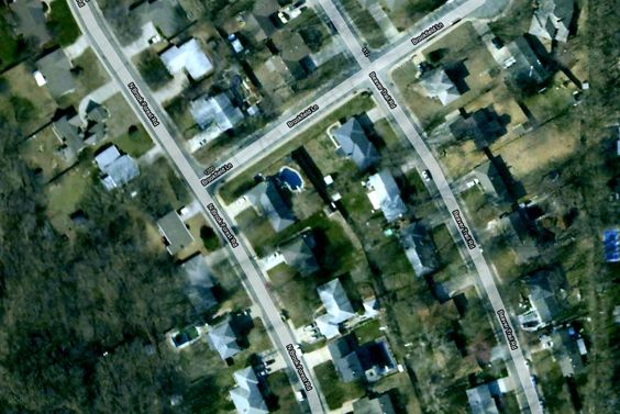 POTD idea for Project Life- a photo of our neighborhood from Google Earth.