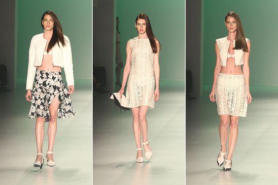 Verão da marca exibiu a barriguinha das modelos com elegância. (Fashion Rio 2013/2014)