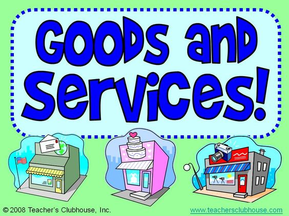 goods and services powerpoint 3rd grade