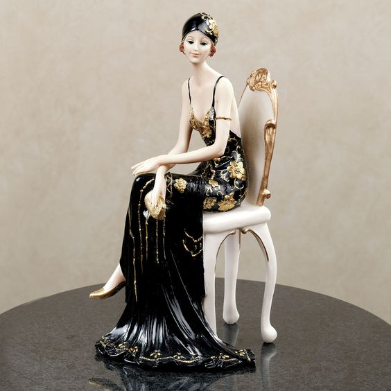 Dameisele Figurine. #TouchofClass #Statue #Sculpture #Decor #Gift #gosstudio  .  ★ We recommend Gift Shop: http://www.zazzle.com/vintagestylestudio ★