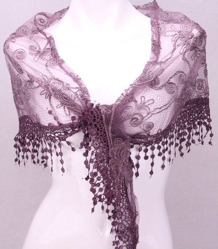 "'Purple Lacey shal 24"" Long and Beautiful!' is going up for auction at  10am Sat, Jul 13 with a starting bid of $1. by Rev Edward"