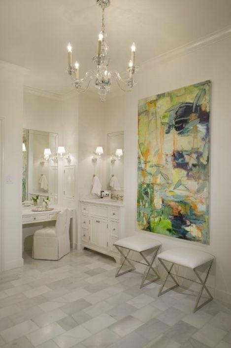 Bathroom Canvas Art: Abstract Canvas, Ottomans And Vanities On Pinterest