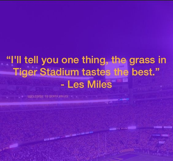Everything is better in  Death Valley!   Geaux Tigers!