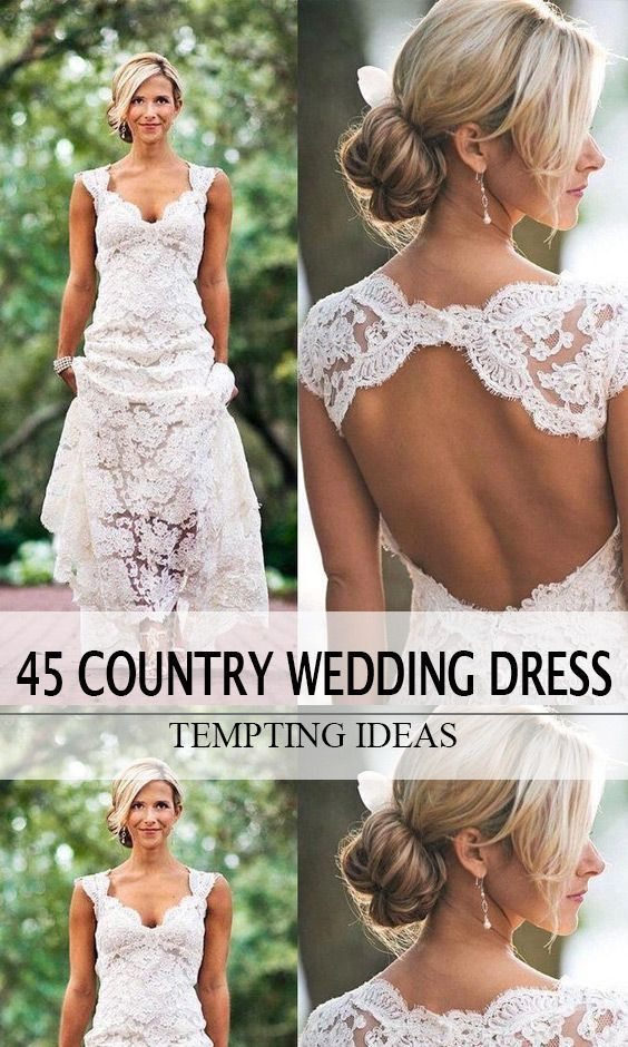 If You Want Everybody Know That You Re The Bride Wearing Cowboy Boots You Can Go Wi Short Country Wedding Dress Casual Country Wedding Country Wedding Dresses