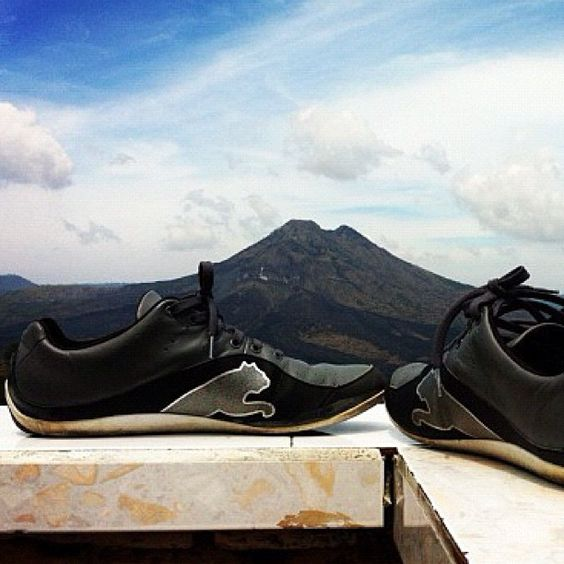 Our latest #travelingpumas winner. Location: Mt Kintamani, Bali, Indonesia. #Shoes shown: #PUMA SL Furore. Enter your pics by tagging your #PUMA gear with #travelingpumas