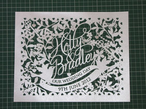 Pink Wedding paper cut  - sas Creative
